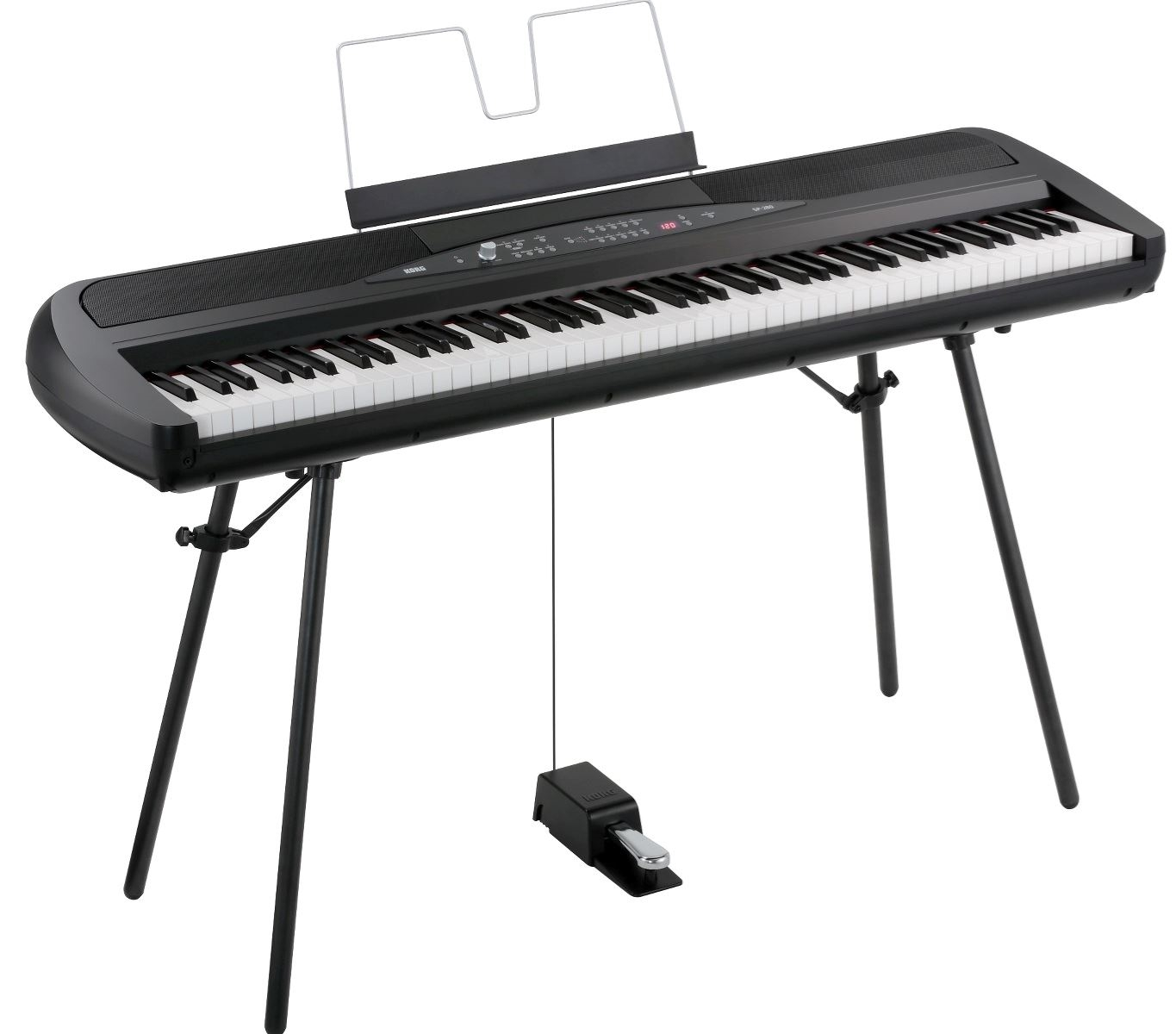 8092809 Korg SP280BK KORG SP280BK Stage-piano, sort