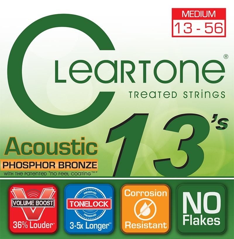 138787   Cleartone Acoustic 13s Medium 13-56 §