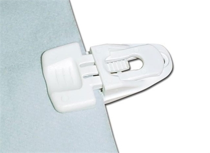 108595-KG Kagu 940001 white All-Purpose Clip Snappy PRO white For feste på Molton som ikke har maljer