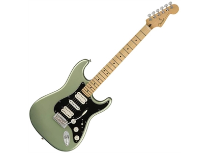 0144532519  014-4532-519 Fender Player Strat HSH MP FB Sage Green Metallic, Maple Fingerboard